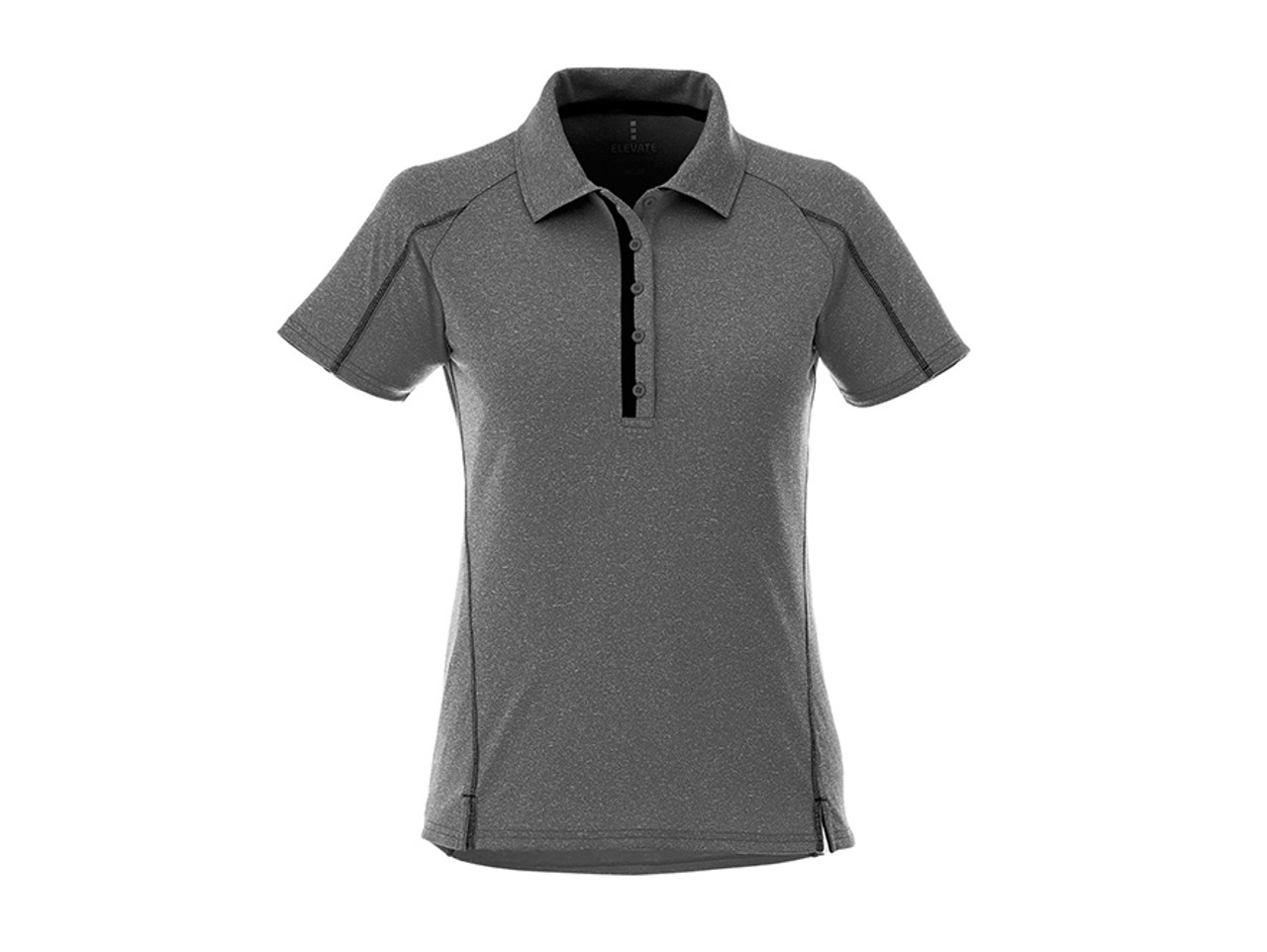 ... Heather Dark Charcoal Black Smoke Elevate 96627 Macta Women s Short  Sleeve Polo Shirt ... aabda89971