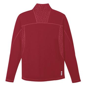 Vintage Red Elevate 17807 Caltech Men's Knit Quarter Zip Fleece