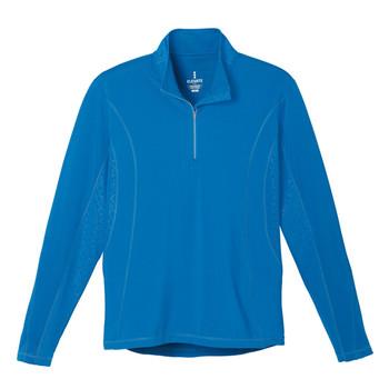Olympic Blue Elevate 17807 Caltech Men's Knit Quarter Zip Fleece