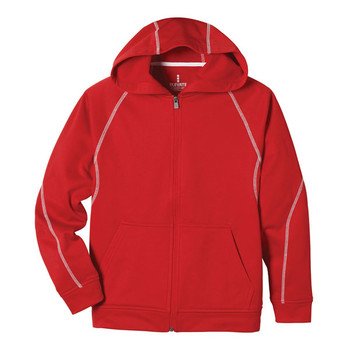 Red Elevate 58202 Tonle Youth Full Zip Hoodie