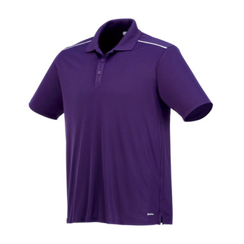 Dark Plum/White On Tour 16207 Albula Short Sleeve Polo Shirt