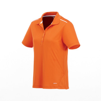 Saffron/ White On Tour 96207 Albula Women's Short Sleeve Polo Shirt