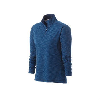 River Blue Heather/River Blue Elevate 97894 Women's Yerba Knit Quarter Zip Fleece