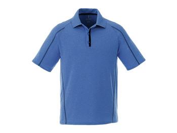 New Royal Heather/Black Smoke Elevate 16627 Macta Short Sleeve Polo Shirt