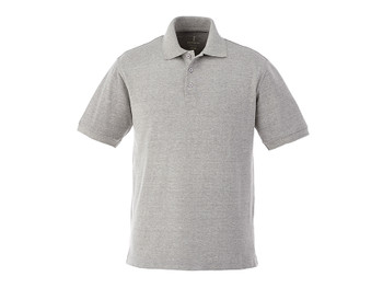 Heather Grey Elevate 16624 Belmont Men's Short Sleeve Polo Shirt