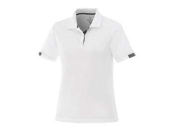 White/Steel Grey Elevate 96209 Kiso Women's Short Sleeve Polo Shirt