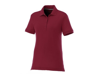 Maroon Elevate 96222 Crandall Women's Short Sleeve Polo Shirt