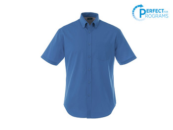 Blue 17745T Stirling Men's Tall Short Sleeve Shirt | Imprintables.ca