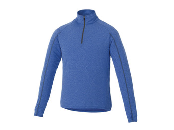New Royal Heather Elevate 17810 Taza Men's Knit Quarter Zip Sweater