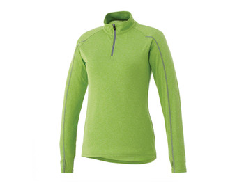 Apple Heather Elevate 97810 Taza Women's Knit Quarter Zip Sweater