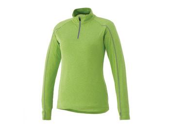 Apple Heather Elevate 97810 Taza Women's Knit Quarter Zip Sweater