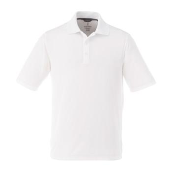 White - 16398T Dade Short Sleeved Men's Tall Polo Shirt | Imprintables.ca