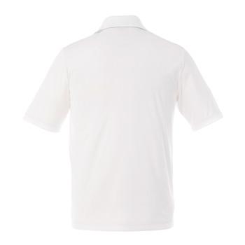 White, Back - 16398T Dade Short Sleeved Men's Tall Polo Shirt | Imprintables.ca