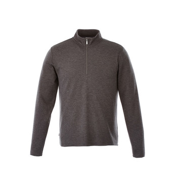 Heather Dark Charcoal - 18612 Stratton Men's Knit Quarter Zip Sweater