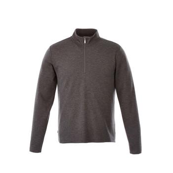 Heather Dark Charcoal - 18612 Stratton Men's Knit Quarter Zip Sweater