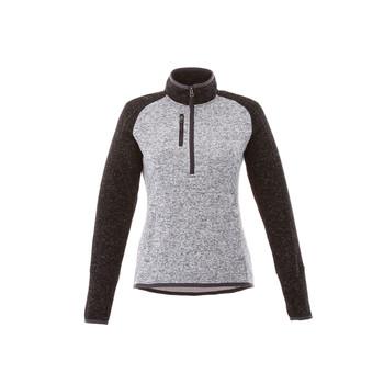 Light Heather Grey/Black Smoke Heather - 98611 Vorlage Women's Half Zip Knit Jacket