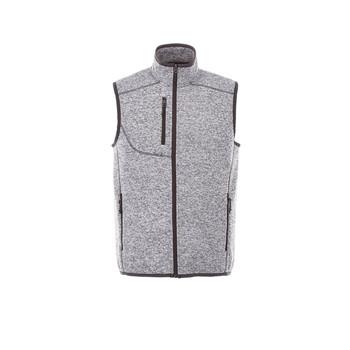 Light Heather Grey - 12502 Fontaine Men's Knit Vest