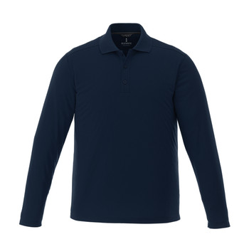 Navy - 16255T Mori Men's Long Sleeve Tall Polo Shirt