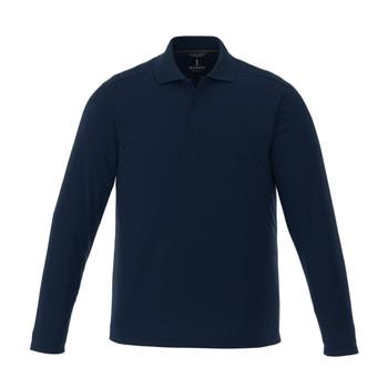 Navy - 16255T Mori Men's Long Sleeve Tall Polo Shirt