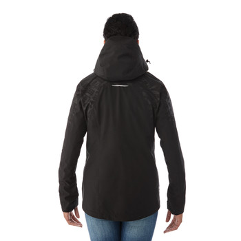 Black/Black, Model Back - Elevate 99306 Yamaska 3-in-1 Jacket | Imprintables.ca