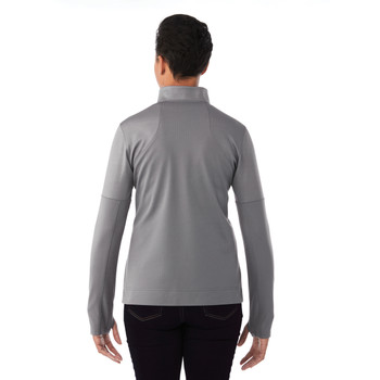 Steel Grey, Model Back - Elevate 98154 Senger Knit Jacket   imprintables.ca