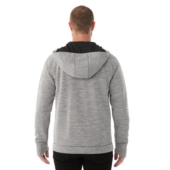 Heather Charcoal, Model, Back - Elevate 18210 Odell Knit Zip Hoodie | imprintables.ca