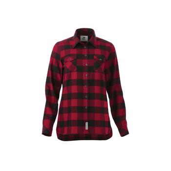 Dark Red/Black - Roots73 97603 Sprucelake Long Sleeve Shirt | imprintables.ca