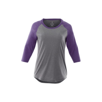 Purple Heather/Medium Heather Grey - Elevate 97814 Women's Dakota Quarter T-Shirt | imprintables.ca