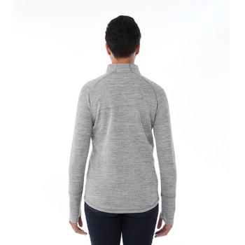 Heather Charcoal, Model Back  - Elevate 98305 Women's Crane Knit Half Zip Sweater | imprintables.ca