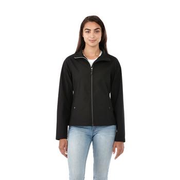 Black, Model - 92937 Women's Elevate Karmine Softshell Jacket | imprintables.ca