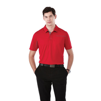 Team Red/Steel Grey, Model - 16309 Elevate Wilcox Short Sleeve Polo Shirt | imprintables.ca