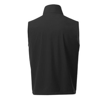 Black, Back - 12504 Elevate Men's Warlow Softshell Vest  | imprintables.ca