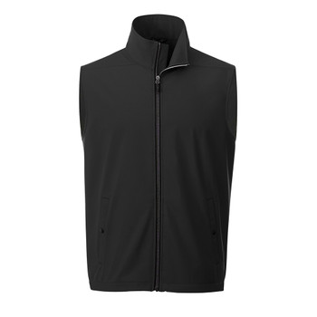 Black - 12504 Elevate Men's Warlow Softshell Vest  | imprintables.ca
