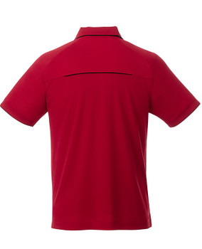 Team Red/Black, Back - 16310 Elevate Men's Remus Short Sleeve Polo Shirt | imprintables.ca