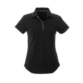 Black/Quarry - 96310 Elevate Women's Remus Short Sleeve Polo Shirt | imprintables.ca