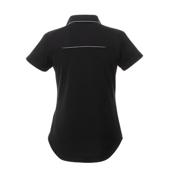 Black/Quarry - Back, 96310 Elevate Women's Remus Short Sleeve Polo Shirt | imprintables.ca