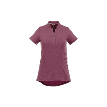 Maroon Heather - 96611 Elevate Women's Concord Short Sleeve Polo Shirt | imprintables.ca