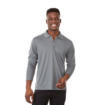 Steel Grey, Model - 16704 Elevate Royce Short Sleeve Polo Shirt | imprintables.ca