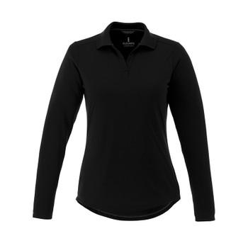 Black - 96255 Elevate Women's Mori Long Sleeve Polo Shirt | imprintables.ca