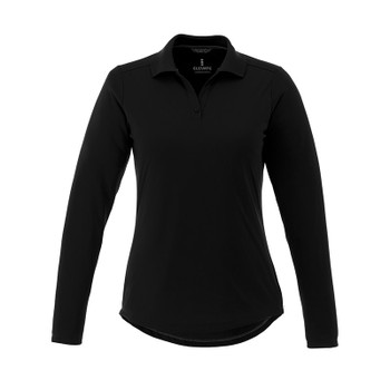 Black - 96255 Elevate Women's Mori Long Sleeve Polo Shirt | imprintables.ca