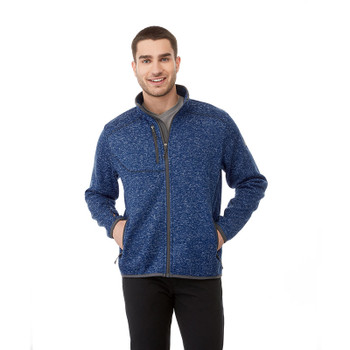 Metro Blue Heather, Model - 18610 Elevate Tremblant Knit Jacket | Imprintables.ca