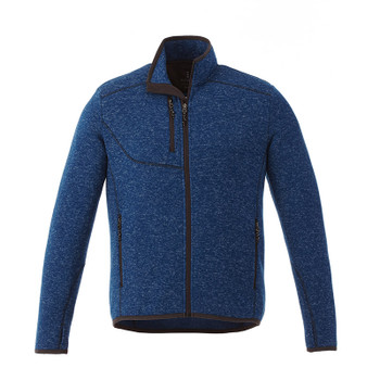 Metro Blue Heather - 18610 Elevate Tremblant Knit Jacket | Imprintables.ca