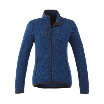 Metro Blue Heather - 98610 Elevate Women's Tremblant Knit Jacket | Imprintables.ca