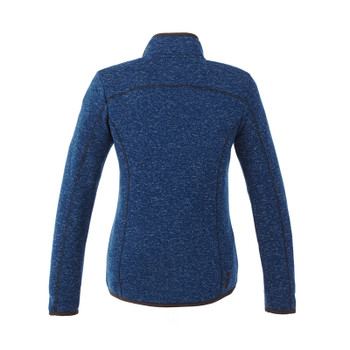Metro Blue Heather - Back, 98610 Elevate Women's Tremblant Knit Jacket | Imprintables.ca