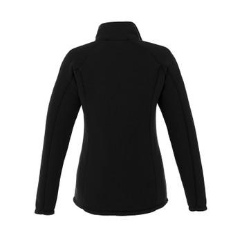 Black - Back, 98308 Elevate Women's Bowlen Polyfleece Half Zip Jacket | Imprintables.ca