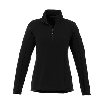 Black - 98308 Elevate Women's Bowlen Polyfleece Half Zip Jacket | Imprintables.ca