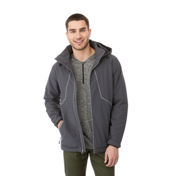 Grey Storm - Model, 19543 Elevate Mantis Insulated Softshell Jacket | Imprintables.ca