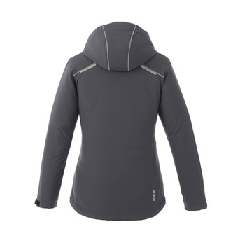 Grey Storm - Back, 99543 Elevate Women's Mantis Insulated Softshell Jacket | Imprintables.ca