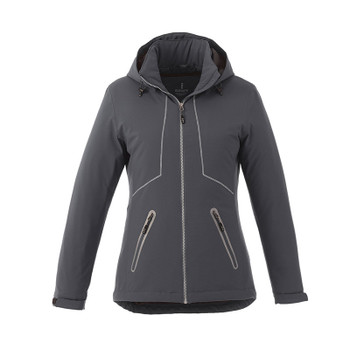 Grey Storm - 99543 Elevate Women's Mantis Insulated Softshell Jacket | Imprintables.ca