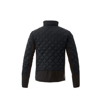 Black/Black - back, 19547 Elevate Men's Rougemont Hybird Insulated Jacket   Imprintables.ca